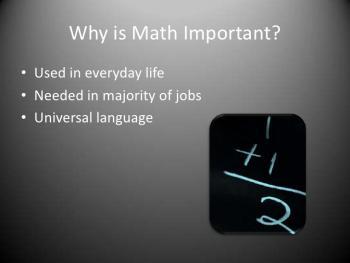 Math importance