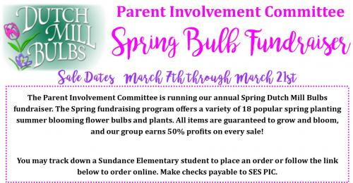 Spring Dutch Mill Bulb Fundraiser Information