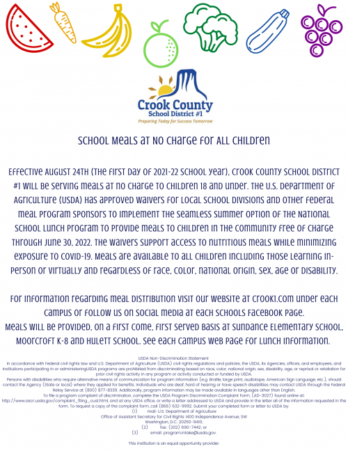 2021-2022 School Lunch Information