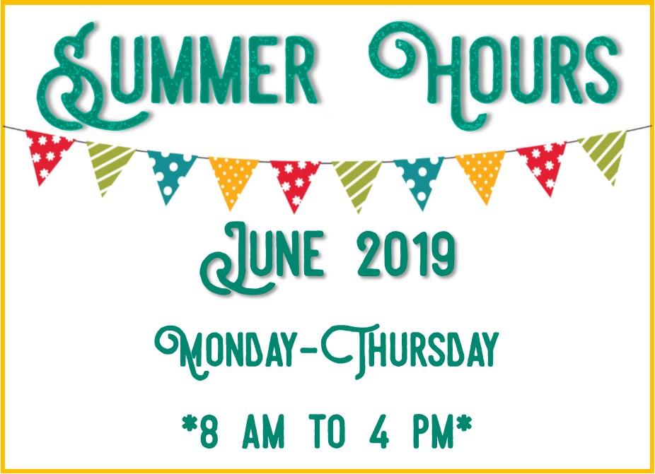 June 2019 Hours