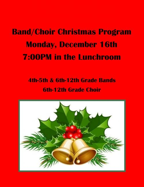 Band/Choir Christmas Concert