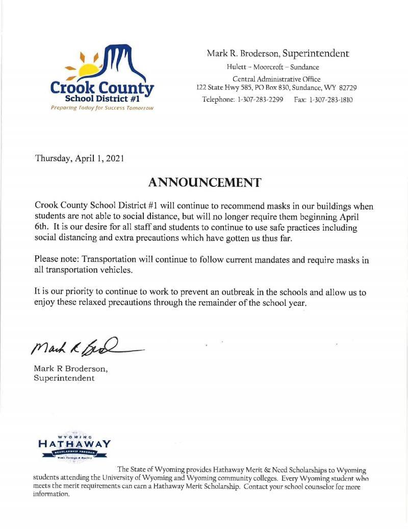 Press Release April 1, 2021