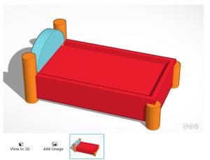 CAD Goldilocks bed