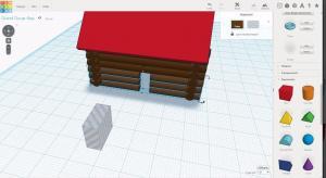 CAD log cabin