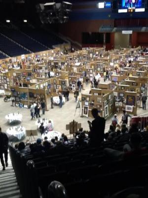 There were over 5,000 pieces of student artwork on display at the Casper Events Center at the 2017 WHSAA Art Sympoium making it the largest of it's kind in the nation.
