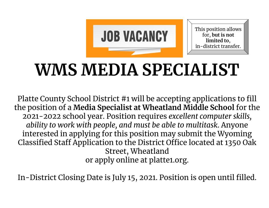 WMS Media Specialist