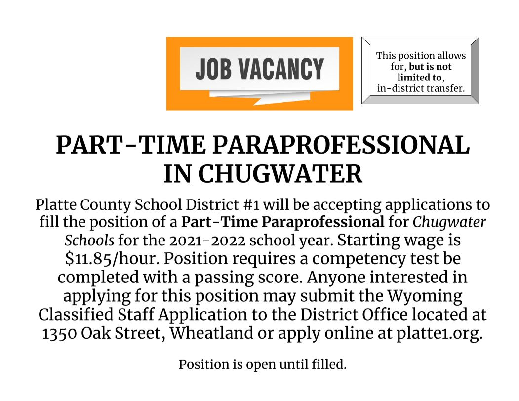 Part Time Para in Chugwater