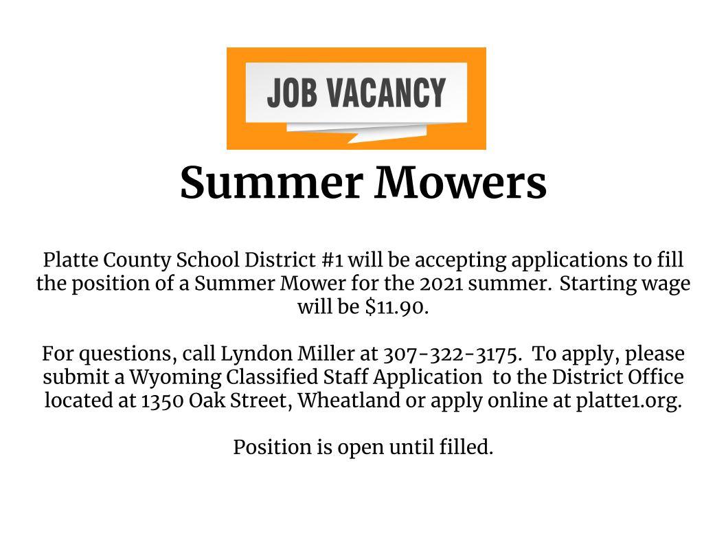 Summer Mowers