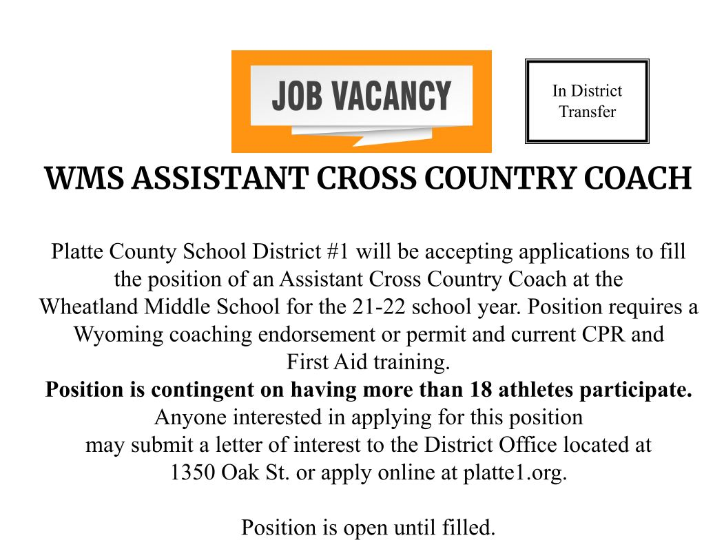 WMS Assistant Cross Country Coach