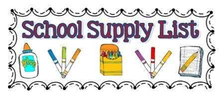 2020-21 School Supply Lists Now Available