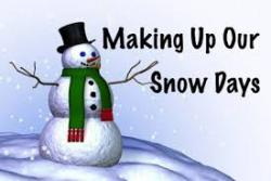 PCSD#1 Schedules Snow Make-up Days