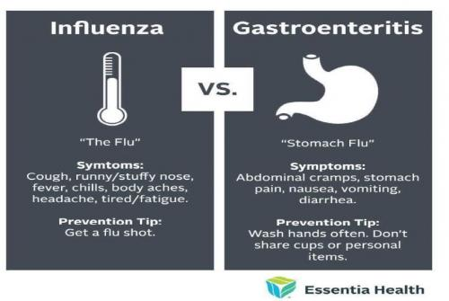 flu vs stomach flu