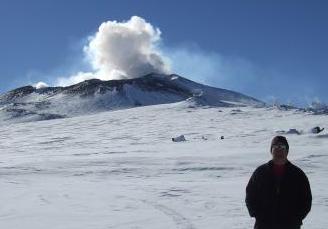 Cory on Mount Erebus