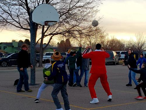 parents play sports with their West students