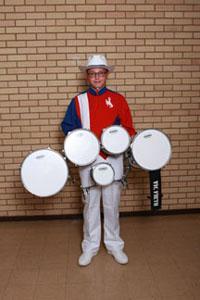 Colby Beaman high school band member