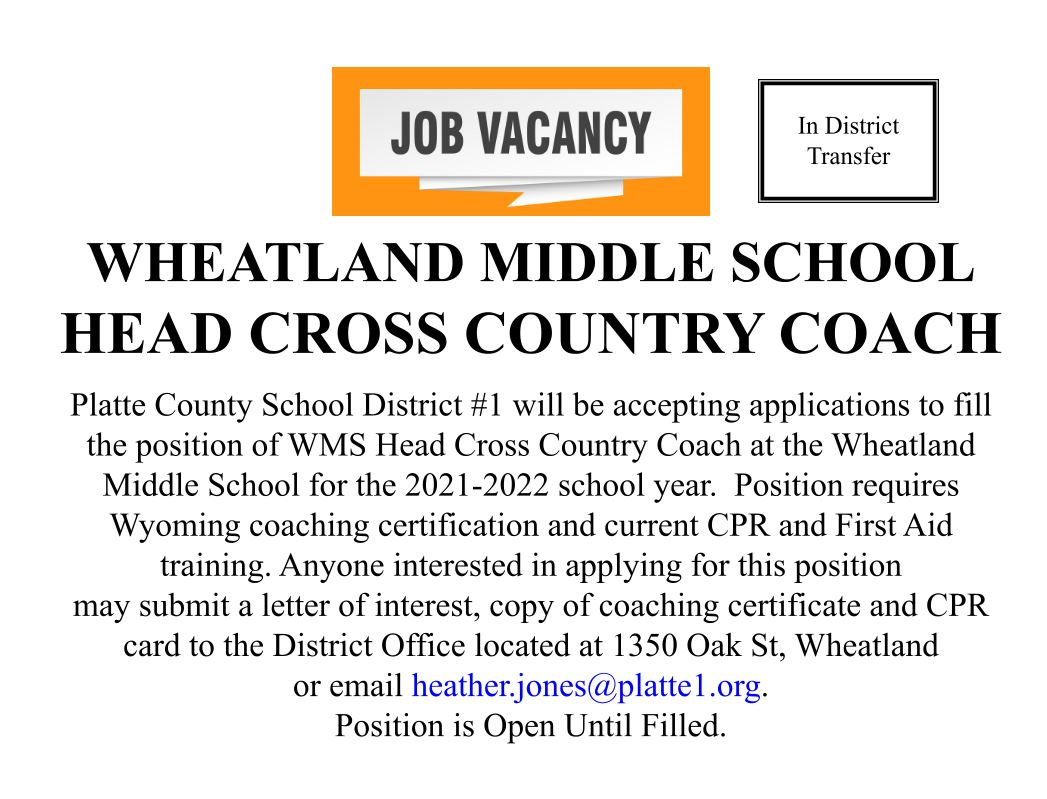 WMS Head Cross Country Coach