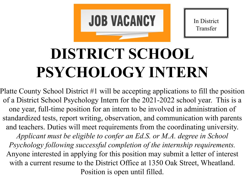 District School Psychology Intern