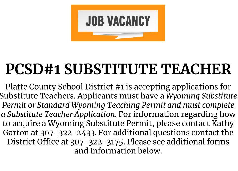 PCSD#1 Substitute Teacher