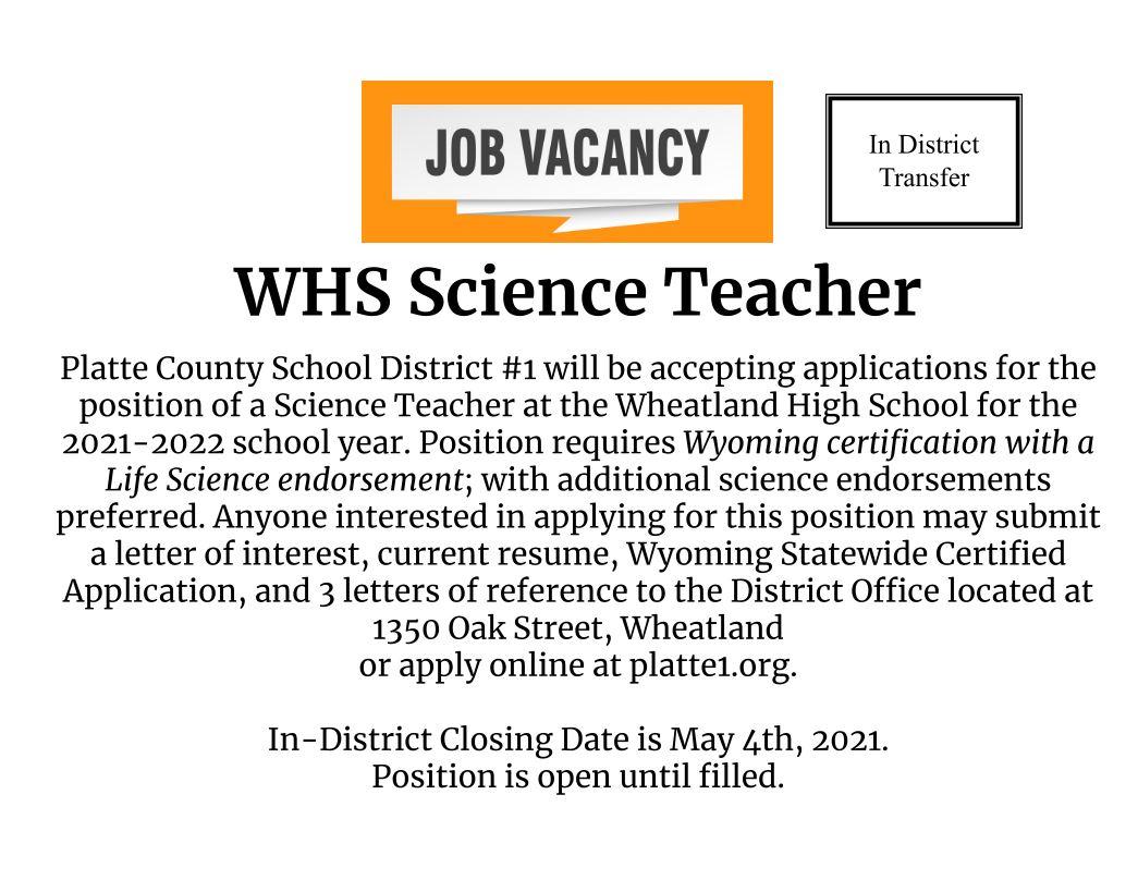 WHS Science Teacher