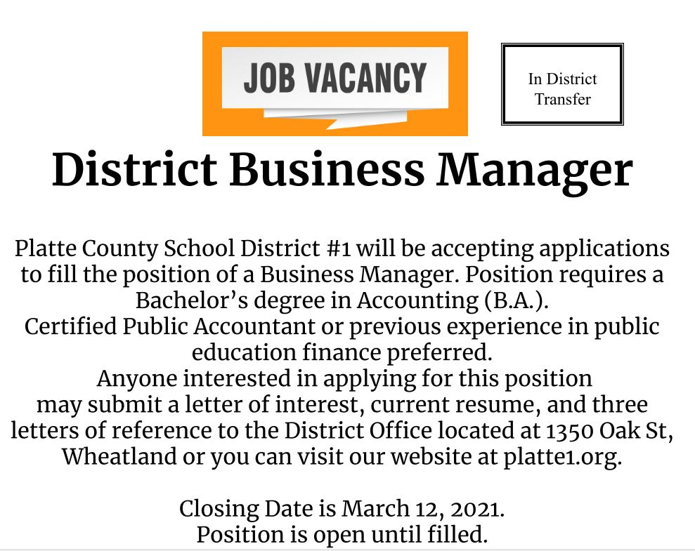 District Business Manager