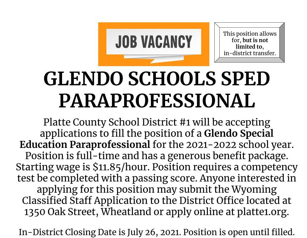 Glendo Schools Paraprofessional