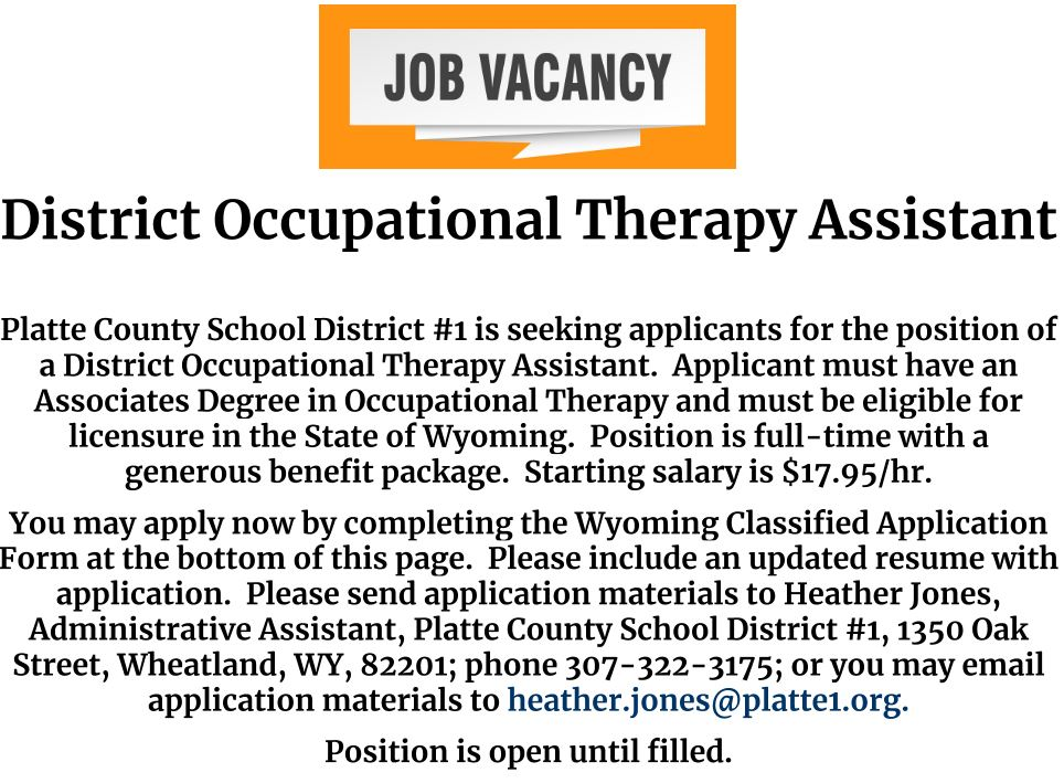 District Occupational Therapy Assistant