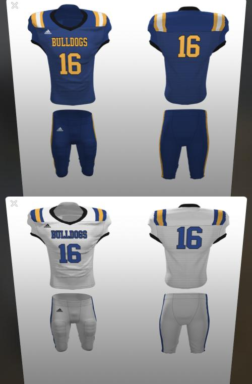 New Blue and White Jerseys