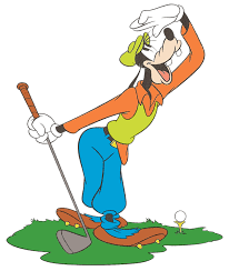 goofy golfer looking