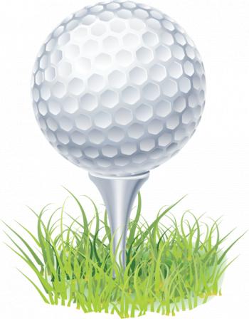 golf on tee