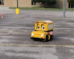 Buster the Bus Educates West Students