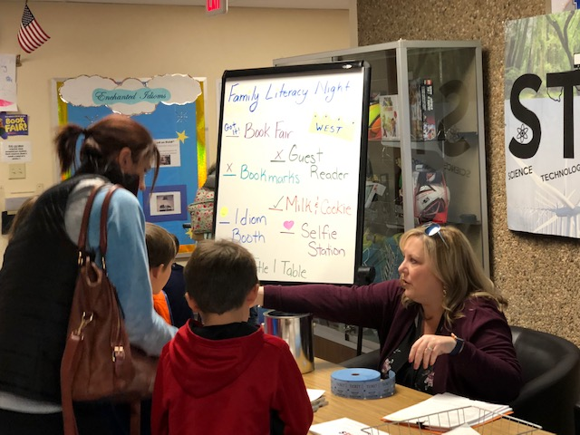 Family Literacy Night held at West Elementary during the Enchanted Book Fair.