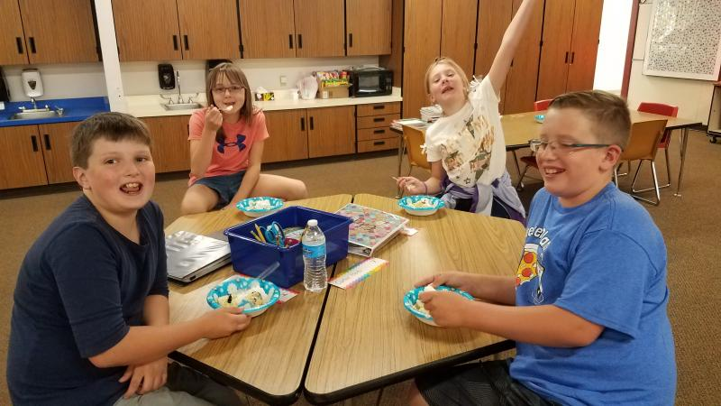 Just a few of our West 5th grade students that completed the 5th Grade Summer Reading Challenge that celebrated with ice cream this last Friday! Way to go 5th graders. Keep up the great work!