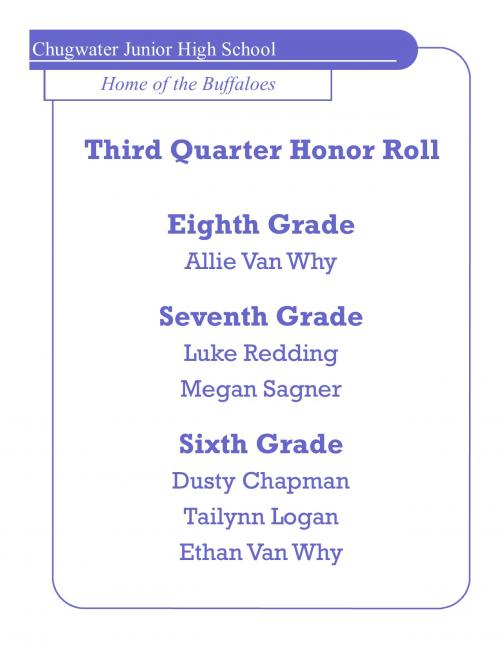 3RD HONOR ROLL