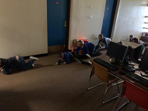 kids crawling