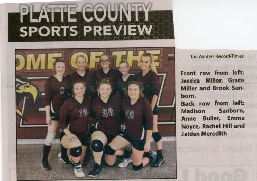 2019 Volleyball Team