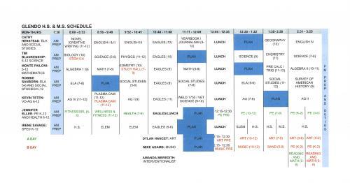 M-Th Schedule