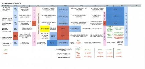 Elem M-Th Schedule