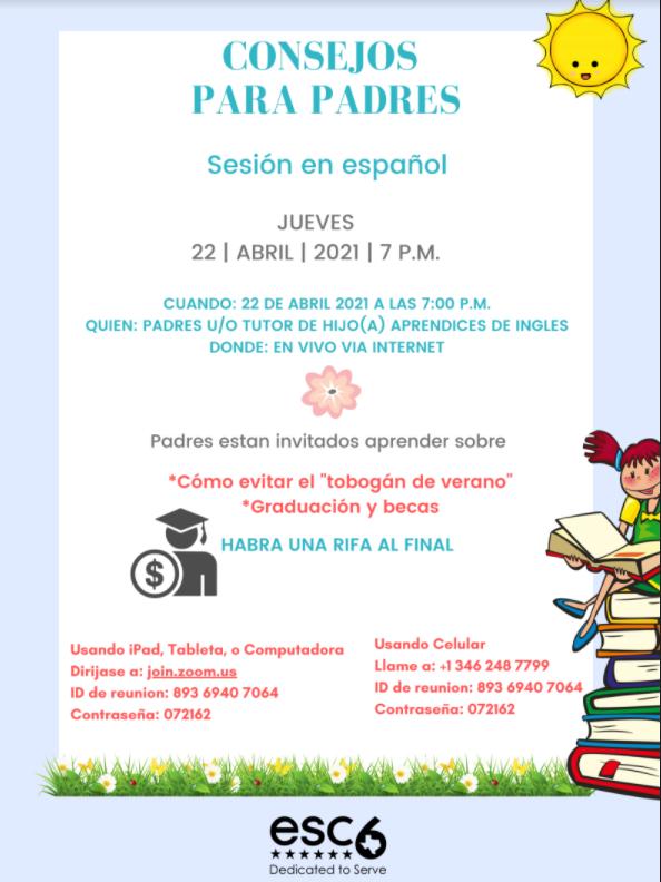 Parent Night Session in Spanish