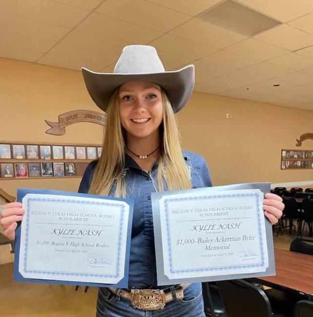 Kylie Nash Awarded Two Scholarships
