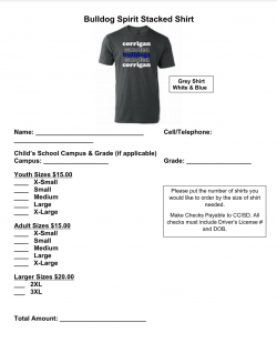 Bulldog Spirit Shirts Available for Purchase