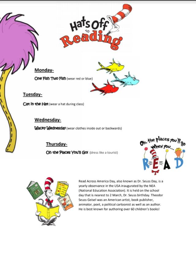 Dr. Seuss Day Celebration Week Begins March 1st
