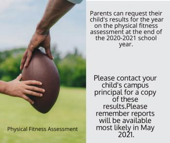 Physical Fitness Assessment Available in May