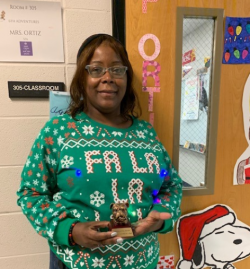 Mrs.Phyllis Ortiz Named Junior High Employee of the Month