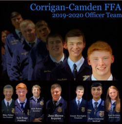 2019-2020 Corrigan-Camden FFA Officers