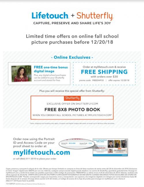 Shutterfly/Lifetouch Brochure