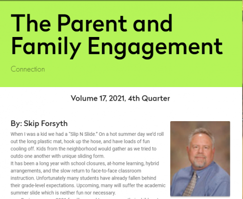 Parent and Family Engagement Newsletter