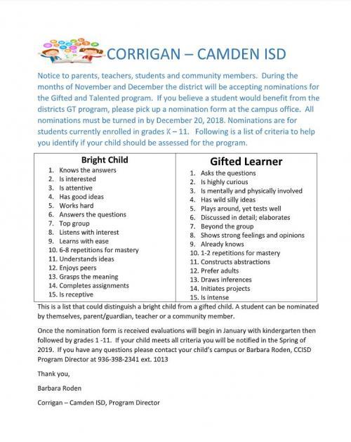 GT Nomination Form