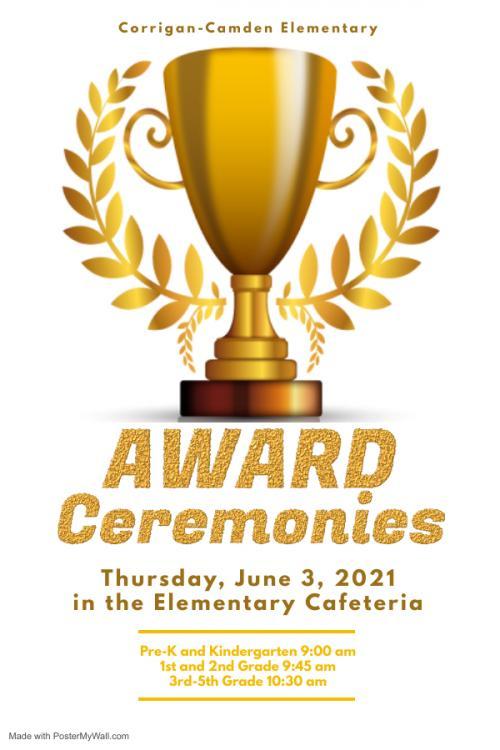 Elementary Awards Ceremony June 3rd