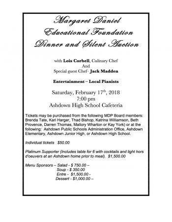 mdp foundation dinner flyer