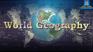 Photo of globe with words saying World Geography